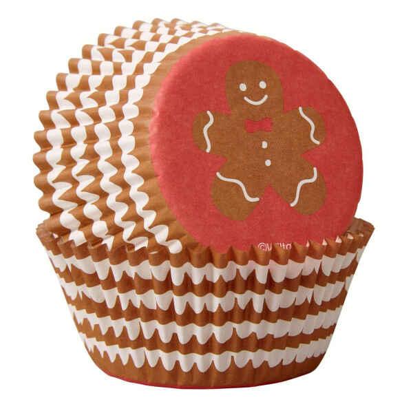 Pirottini - Cupcake Omino Pan di Zenzero 75 Pz Wilton