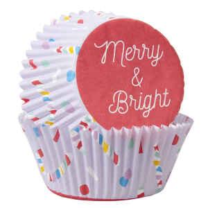 Pirottini - Cupcake Merry and Bright 75 Pz Wilton