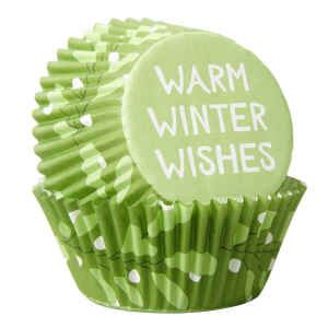 Pirottini - Cupcake Auguri Invernali 75 Pz Wilton
