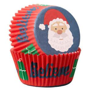 Pirottini - Cupcake Babbo Natale 75 Pz Wilton