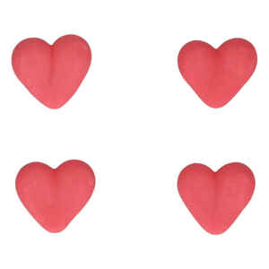Sugar Decorations Heart Red Set 8 Pz FunCakes