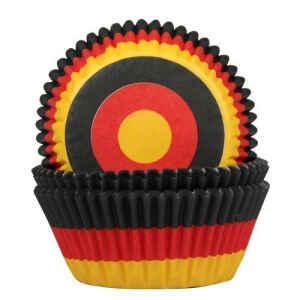 Pirottini - Cupcake Flag Germany Ø 5 cm 50 Pz House of Marie