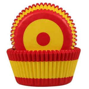 Pirottini - Cupcake Flag Spain Ø 5 cm 50 Pz House of Marie
