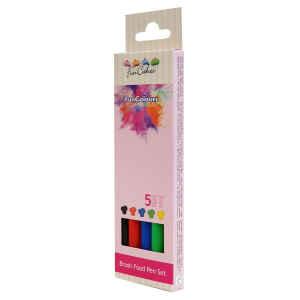 Edible FunColours Brush Food Pen Colori Primari Set 5 Pz Funcakes