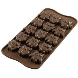 Silicone Chocolate Mould Gufi Owls Silikomart