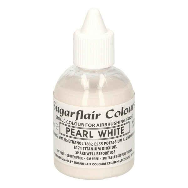 Colorante per Aerografo Glitter Pearl White 60 ml Sugarflair