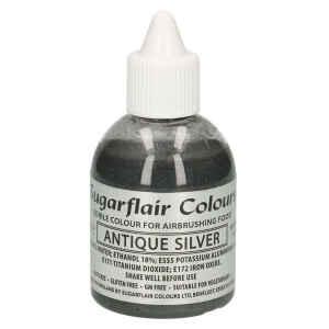 Colorante per Aerografo Argento Antico Glitter 60 ml Sugarflair