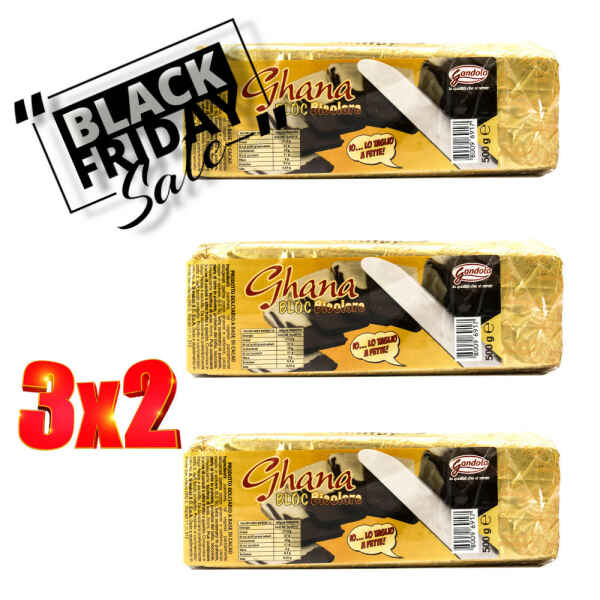 Black Friday del Cremino Storico Ghana Bloc bicolore 500 g Gandola 3x2