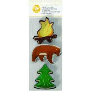 Cookie Cutter Fire Bear Tree Set 3 Pz Wilton