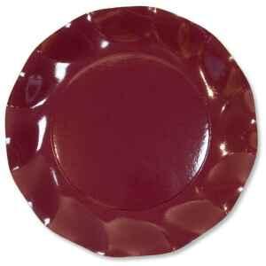 Piatti Piani di Carta a Petalo Bordeaux 21 cm Extra
