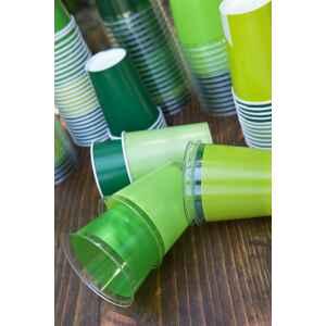 Bicchieri di Plastica Verde Prato 300 cc Extra