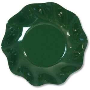Piatti Fondi di Carta a Petalo Verde Scuro 18,5 cm Extra