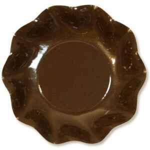 Piatti Fondi di Carta a Petalo Marrone Cioccolato 18,5 cm Extra
