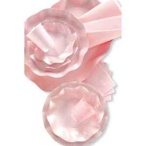 Piatti Piani di Carta a Petalo Rosa Perlato 24 cm Extra