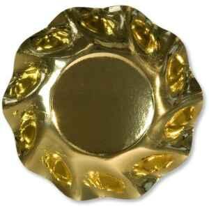 Piatti Fondi di Carta a Petalo Oro Metallizzato Lucido 18,5 cm Extra