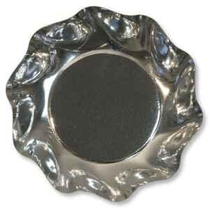Piatti Fondi di Carta a Petalo Argento Metallizzato Lucido 18,5 cm Extra