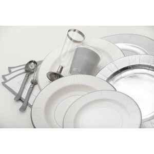 Bicchieri di Plastica Argento Metallizzato 300 cc Extra