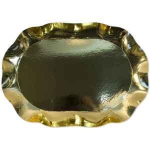 Vassoio Rettangolare di Carta a Petalo Oro Metallizzato 46 x 31 cm Extra