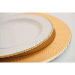 Piatti Piani di Carta a Righe Bordo Oro Classic Gold 27 cm Extra