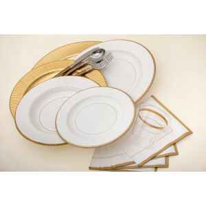 Tovaglioli Bordo Oro Classic Gold 33 x 33 cm 3 confezioni Extra