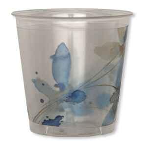 Bicchieri di Plastica Fiore Blu 300 cc Extra
