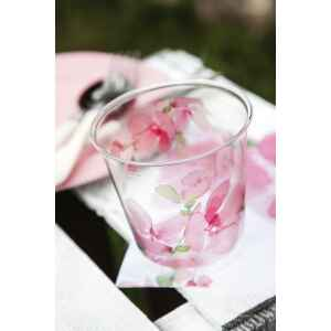 Bicchieri di Plastica Fiore Rosa 300 cc Extra