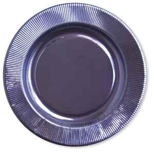 Piatti Piani di Carta a Righe Lavanda Metallizzato 21 cm Extra