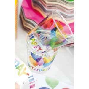 Bicchieri di Plastica Happy Birthday 300 cc Extra