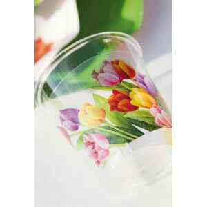 Bicchieri di Plastica 300 cc Tulipani Colorati 3 confezioni Extra
