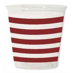 Bicchieri di Plastica Navy Rosso 300 cc Extra