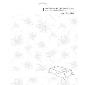 Extra Centrotavola Tulle Christmas Bouquet 100 x 100 cm