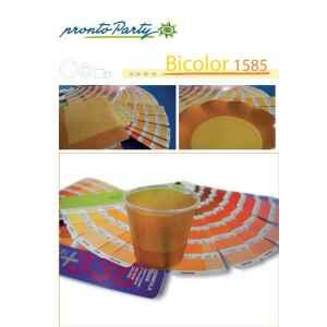 Piatti Piani di Carta a Petalo Bicolore Giallo - Arancione 27 cm 2 confezioni Extra