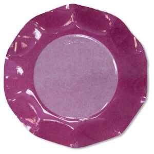 Piatti Piani di Carta a Petalo Bicolore Pink - Fucsia 27 cm 2 confezioni Extra