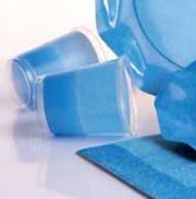 Bicchieri di Plastica PPL Bicolore Turchese - Blu Cobalto 250 cc 3 confezioni Extra