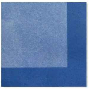 Tovaglioli Bicolore Turchese - Blu Cobalto 33 x 33 cm 3 confezioni Extra