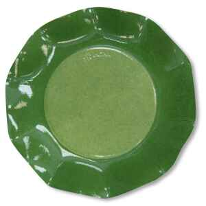 Piatti Piani di Carta a Petalo Bicolore Verde - Verde Scuro 27 cm 2 confezioni Extra