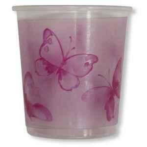 Bicchieri di Plastica PPL Farfalla Rosa 250 cc 3 confezioni Extra