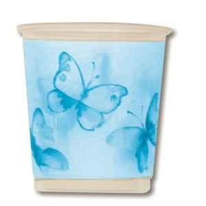 Bicchieri di Plastica PPL Farfalla Turchese 250 cc 3 confezioni Extra