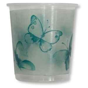 Bicchieri di Plastica PPL Farfalla Verde 250 cc 3 confezioni Extra