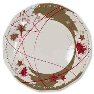 Piatti Piani di Carta a Petalo Stella Oro 27 cm 2 confezioni Extra