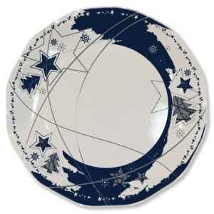 Piatti Piani di Carta a Petalo Stella Blu 27 cm 2 confezioni Extra