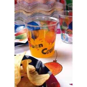 Bicchieri di Plastica Buon Compleanno 300 cc Extra