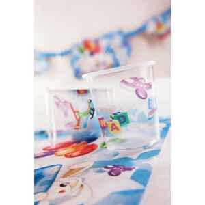 Bicchieri di Plastica PPL Primo Compleanno Palloncini Celeste 250 cc 3 confezioni Extra