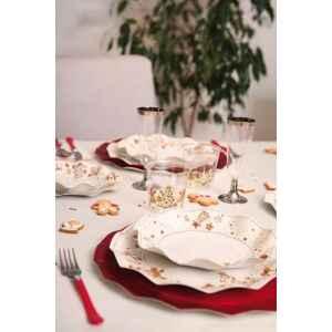 Piatti Piani di Carta a Petalo Gingerbread 27 cm Extra
