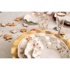 Piatti Fondi di Carta a Petalo Gingerbread 24 cm Extra