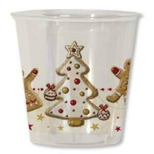 Bicchieri di Plastica Gingerbread 300 cc 3 confezioni Extra