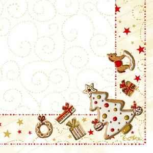 Tovaglioli Gingerbread 33 x 33 cm 3 confezioni Extra