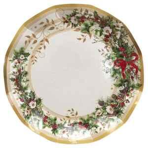 Piatti Piani di Carta a Petalo Ghirlanda di Natale 27 cm Extra