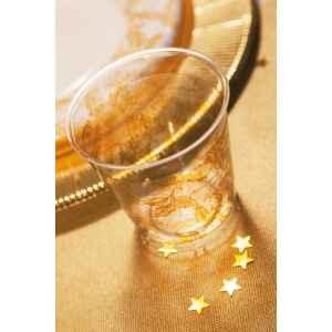 Bicchieri di Plastica Foglie Oro 300 cc Extra