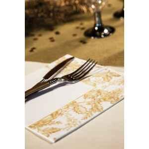 Tovaglioli Foglie Oro 33 x 33 cm 3 confezioni Extra